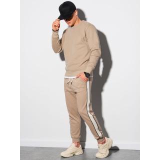 Ombre Clothing Mens set hoodie   pants Z26 pánské Beige S
