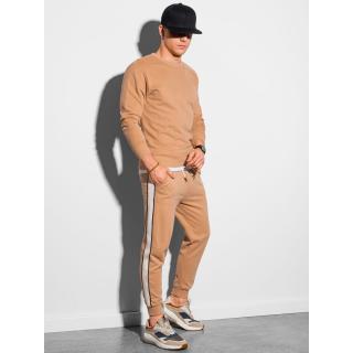 Ombre Clothing Mens set hoodie   pants Z26 pánské Brown S