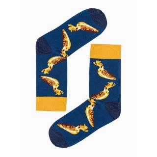 Ombre Clothing Mens socks U108 pánské Navy 43