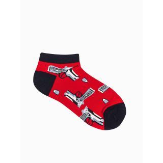 Ombre Clothing Mens socks U173 pánské Red 39-42