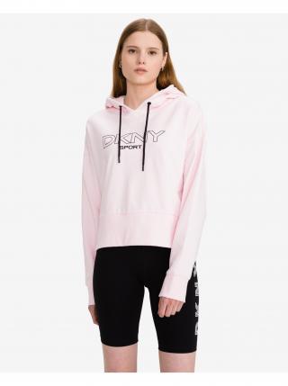 Ombre Logo Mikina DKNY dámské růžová L