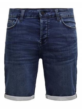 ONLY & SONS Džínové šortky Ply 22018582 Tmavomodrá Regular Fit pánské S