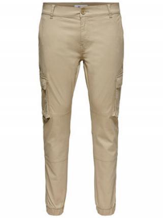 ONLY & SONS Kalhoty z materiálu Cam Stage 22016687 Béžová Regular Fit pánské 28_30