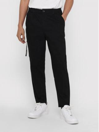 ONLY & SONS Kalhoty z materiálu Dew 22018645 Černá Tapered Fit pánské 32_34