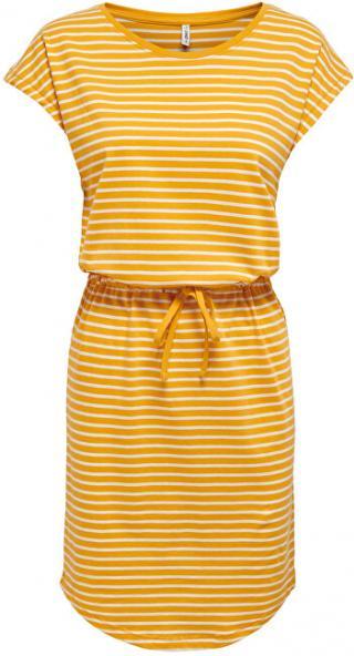 ONLY Dámské šaty ONLMAY 15153021 Mango Mojito THIN STRIPE CLOUD DANCER S dámské
