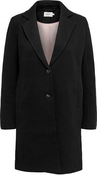 ONLY Dámský kabát ONLCARRIE LIFE MEL COAT OTW NOOS Black SOLID 36 dámské