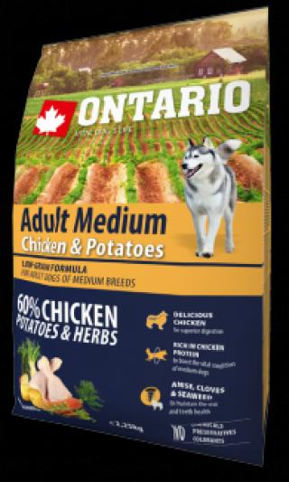 Ontario adult medium chicken & potatoes 2,25 kg