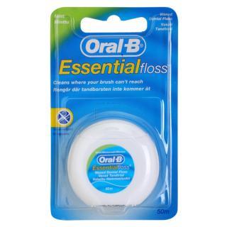 Oral B Essential Floss voskovaná dentální nit s mátovou příchutí 50 m 50 m