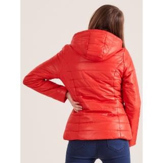 Orange quilted jacket with hood dámské Neurčeno 36