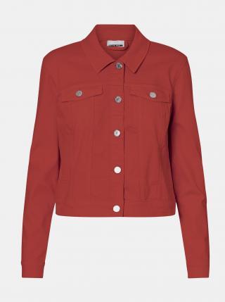 Oranžová džínová bunda Noisy May Debra dámské L
