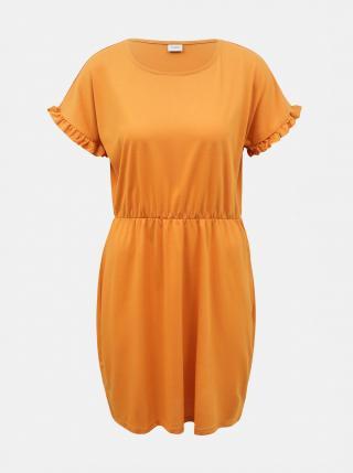 Oranžové šaty Jacqueline de Yong Karen dámské oranžová XS