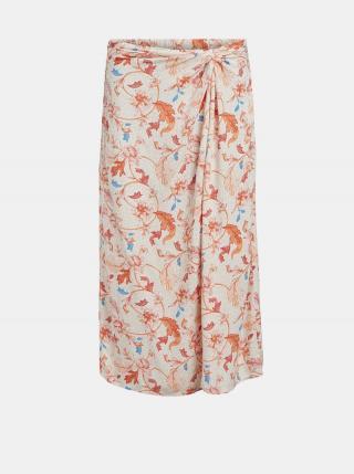 Oranžovo-krémová vzorovaná sukně .OBJECT Obdulia dámské XL