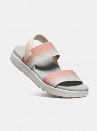 Oranžovo-krémové dámské sandály Keen dámské krémová 36