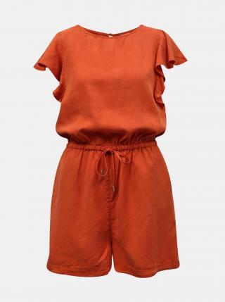 Oranžový krátký overal se zavazováním VILA Isabel dámské oranžová S