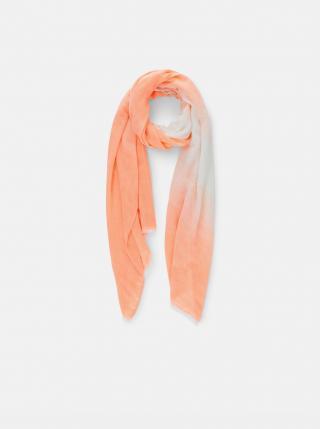 Oranžový šátek Pieces Terra dámské oranžová