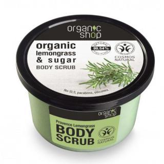 Organic Shop Koupelový cukrový peeling Organic Lemongrass & Sugar  250 ml