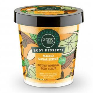 Organic Shop Tělový cukrový peeling Body Desserts Mango Sugar Sorbet  450 ml