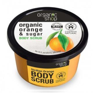 Organic Shop Tonizační tělový cukrový peeling Organic Orange & Sugar  250 ml