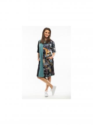 Orientique oboustranné barevné šaty Da Vinci dámské fialová 54