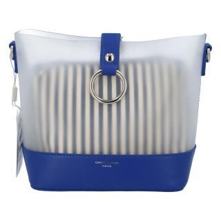 Originální dámská crossbody kabelka modrá - David Jones Crazy dámské