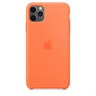 Originální kryt Silicone Case pro Apple iPhone 11 Pro Max, oranžová