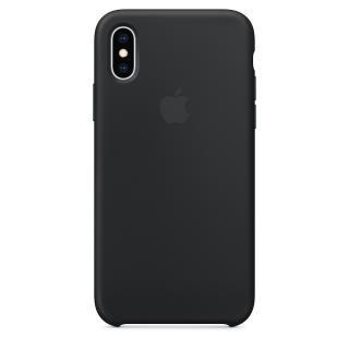 Originální kryt Silicone Case pro Apple iPhone XS, černá