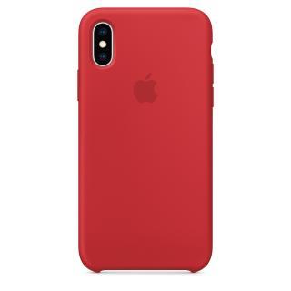 Originální kryt Silicone Case pro Apple iPhone XS Max, červená