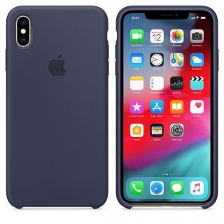 Originální silikonový kryt MRWG2ZM/A Apple iPhone XS Max midnight blue