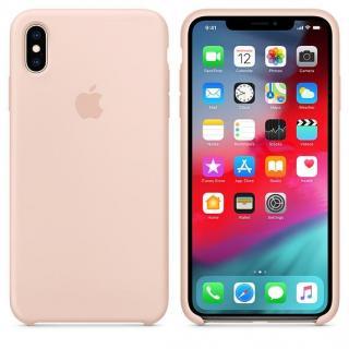 Originální silikonový kryt MTFD2ZM/A pro Apple iPhone XS Max, pink sand