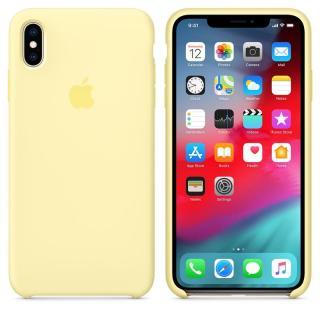 Originální silikonový kryt MUJR2ZM/A Apple iPhone XS Max mellow yellow