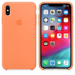 Originální silikonový kryt MVF72ZM/A Apple iPhone XS Max papaya