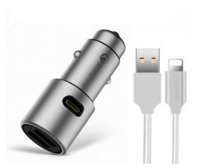Originální USB nabíječka do auta - 3 varianty Varianta: IOS kabel