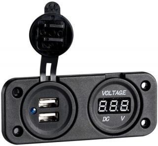 Osculati Digital Voltmeter and Dual USB port 4.8 A
