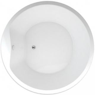 Oválná vana Teiko Space 175x175 cm akrylát V115175N04T01001 bílá bílá