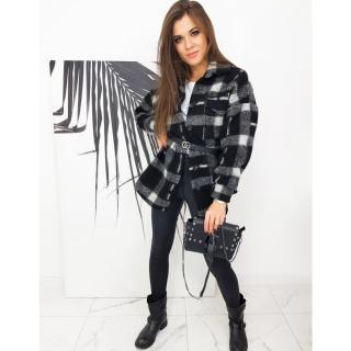 Oversize jacket / shirt STING black and gray TY1580 dámské Neurčeno One size