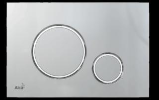 Ovládací tlačítko Alcaplast plast chrom mat M772 chrom chrom