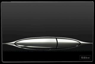 Ovládací tlačítko SIKO sklo černá P46-0001 černá černá