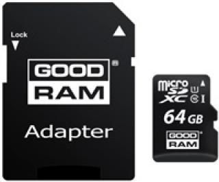 Paměťová karta GOODRAM Micro SDXC 64GB, Class 10, UHS-I s adaptérem