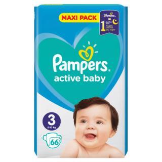 PAMPERS Active Baby VPP 3 Midi 66ks
