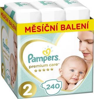 PAMPERS Premium Care 2 MINI 240 ks  MĚSÍČNÍ ZÁSOBA – jednorázové pleny tyrkysová