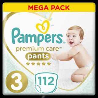 PAMPERS Premium Care Pants 3 MIDI  112 ks MEGA BOX – plenkové kalhotky bílá