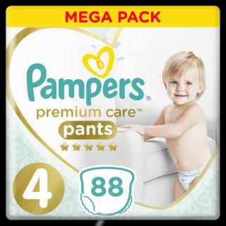 PAMPERS Premium Care Pants 4 MAXI  88 ks MEGA BOX – plenkové kalhotky bílá