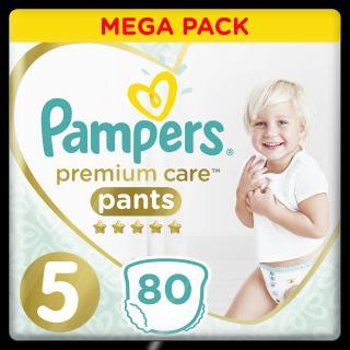 PAMPERS Premium Care Pants 5 JUNIOR  80 ks MEGA BOX – plenkové kalhotky bílá
