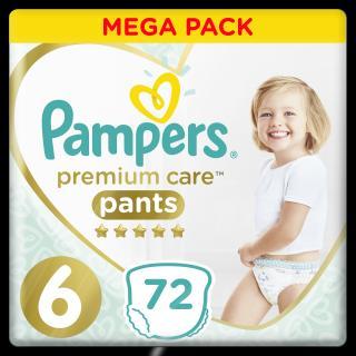 PAMPERS Premium Care Pants 6 MAXI  72 ks MEGA BOX – plenkové kalhotky bílá