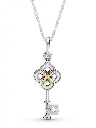 Pandora Stříbrný bicolor náhrdelník Houslový klíč Passions 399339C01-70