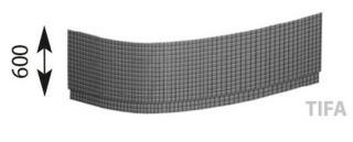Panel k vaně Polysan EVIA 160 cm akrylát 12919 bílá