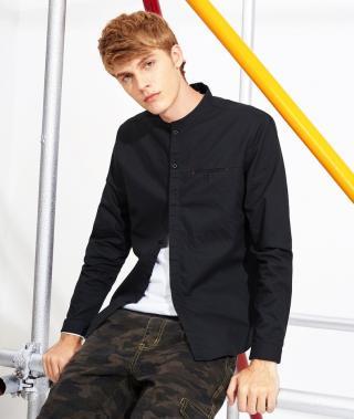 Pánská elegantní košile - Černá Velikost: XS