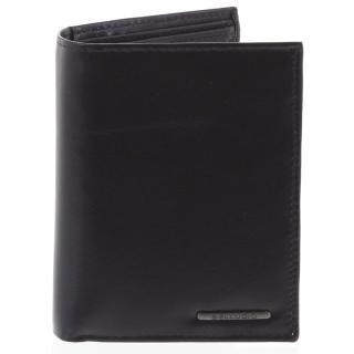 Pánská hladká kožená peněženka černá - Bellugio Cadmus pánské