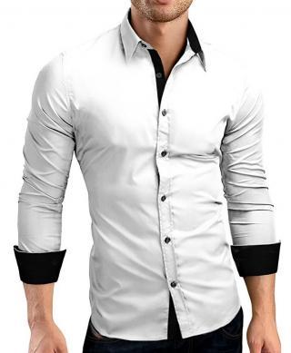 Pánská košile - 3 barvy Barva: bílá, Velikost: XXL