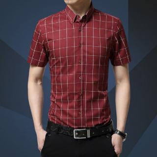 Pánská košile s krátkým rukávem A1467 Barva: červená, Velikost: XS